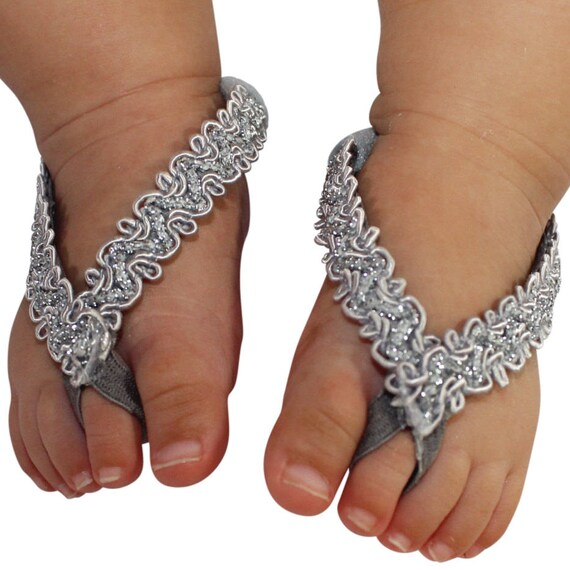 Baby Barefoot Sandals, Sandals For Babies, Wedding Sandals, Toddler Sandals, Crib Shoes, Silver Sandals, Wedding Sandals