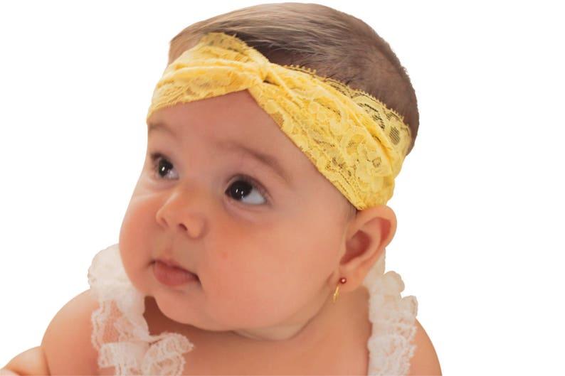 Newborn Baby Girl Kids Infant Headband Foot Flower Elastic Hair Band HK