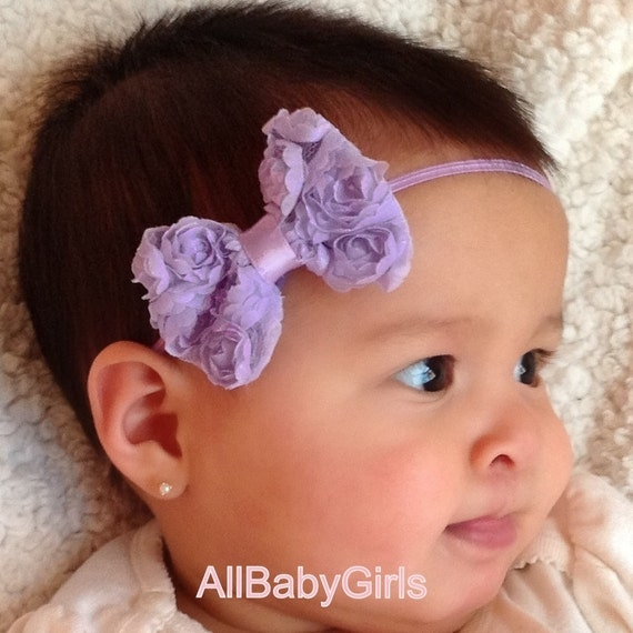 Baby Headband Bow, Lilac Headband, Newborn Bow Headband, Bow Headband, Purple Headband, Baby Accessories, Hair Accessories, Headband Bow
