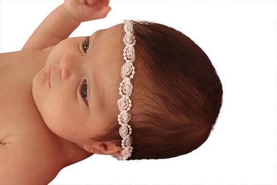 Pearls Baby Headband, Halo Headband, White Baby Headband, Infant Headbands, Baby Headband, Newborn Headband, Bridal Headband