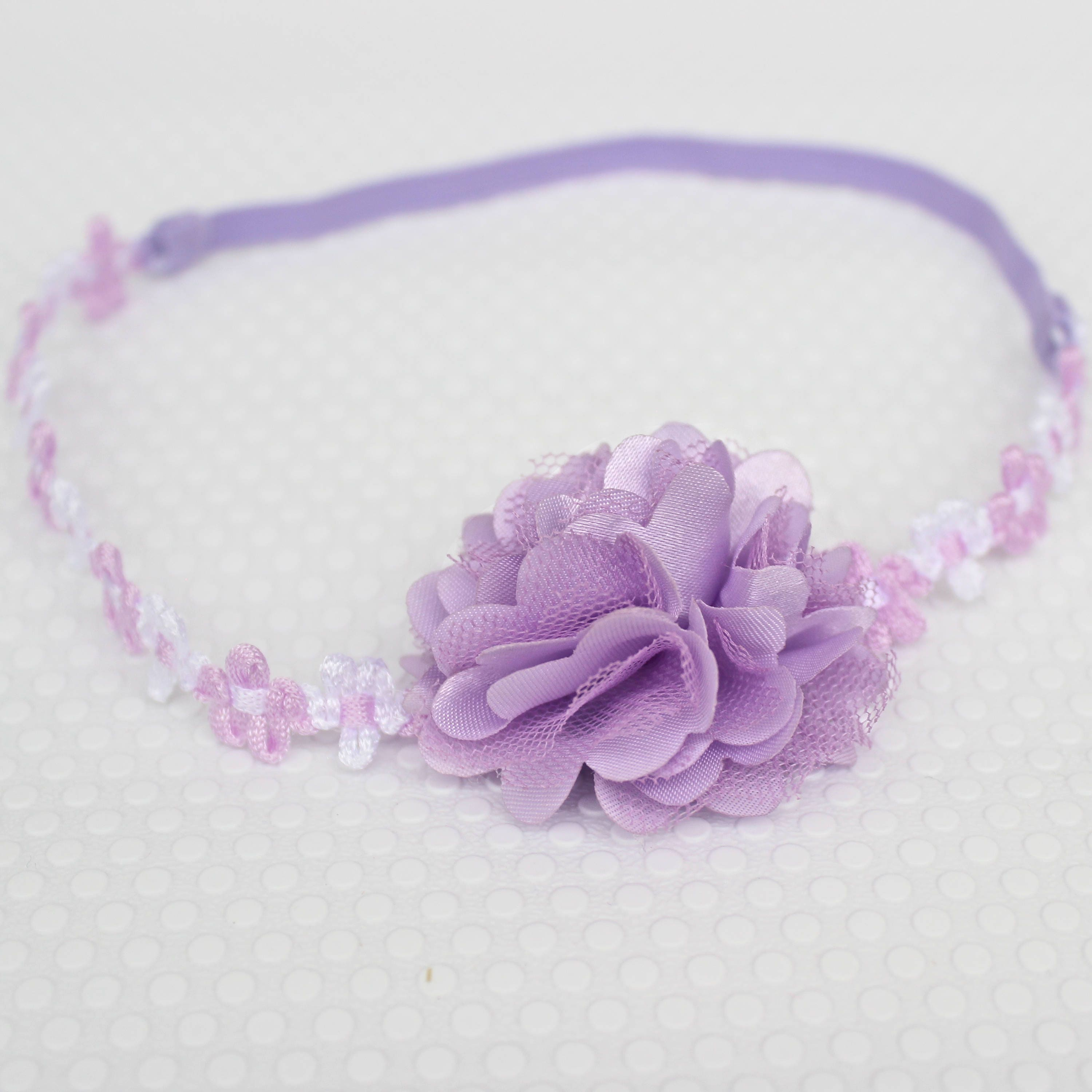 Purple Flower Headband Girls Headband Wedding Headband Newborn