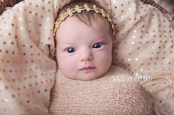 Halo Headband, Gold Headband, Infant Headbands, Baby Headband, Gold Baby Headband, Infant Headbands, Gold Infant Headband, Baptism Headband