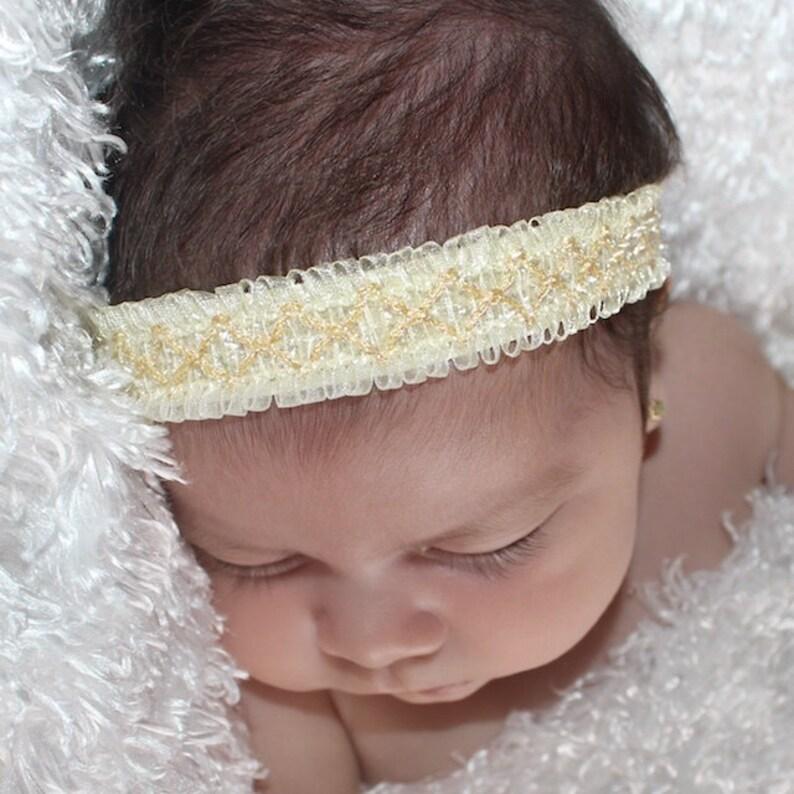 Baby headband Baby Headbands Headband for Babies Beige Headband Newborn Headband Baby Headpiece Ivory Headband Infant Headbands