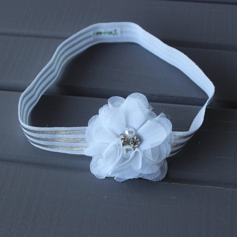 Flower Headband Baby White Flower Headband Flower Headband Floral