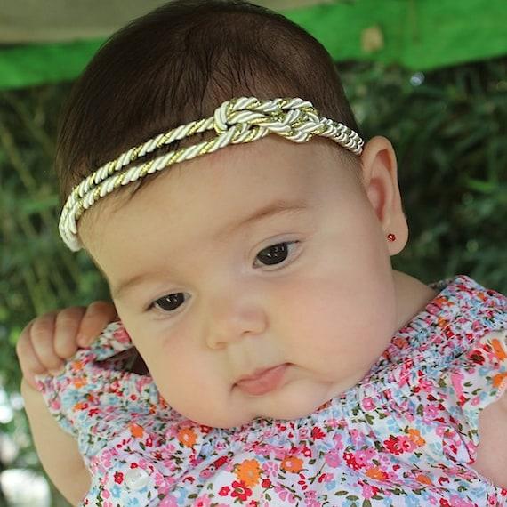Baby headband, Turban Headband, Gold Baby Headband, Gold Headband, Baby Girls Headband, Baby Girl Headband, Newborn Headband, Headband Gold