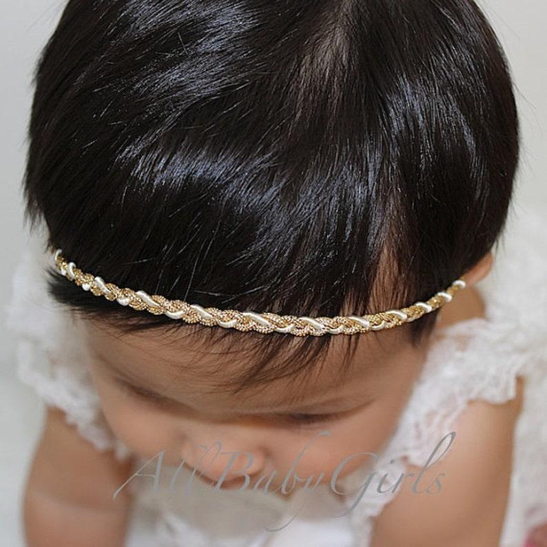 Delicate headband baby girl headband Gold Headband baby headband baby headbands Halo Headband gold baby headband Baby gold headband