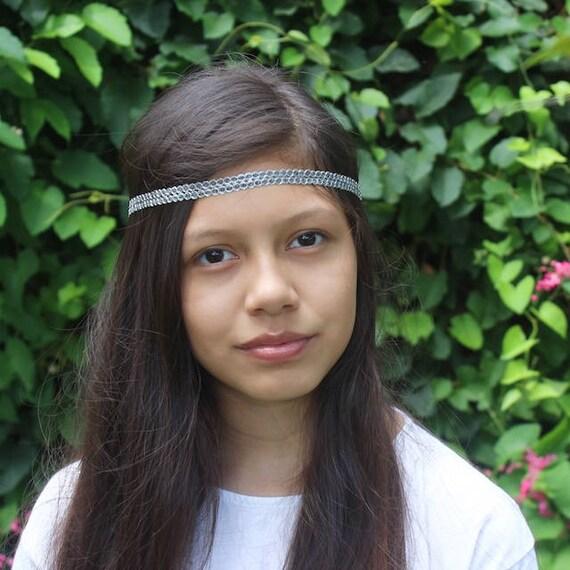 Silver Headband, Bohemian Headband, Adult Boho Headband, Silver Boho Headband, Black Girl Headband, Forehead Headband, Halo Headband