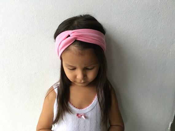 Pink Turban Headband, Baby Headbands, Pink Headband, Newborn Turban, Infant Headband, Infant Headbands, Toddler Headband