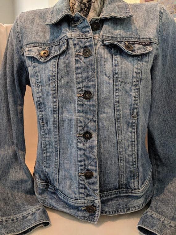 Vintage Calvin Klein Denim Jacket. Stone Washed Calvin Klein Jeans Jacket. Calvin Klein Trucker Style Women's Denim Jacket.