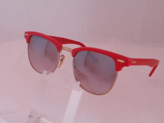 Vintage Red CM Style  Sunglasses.  Red Retro Sunnies.  Cute Red Sunglasses. Red Shades