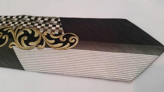 Vintage Del Orso Di Roma Silk Necktie.  Italian Design Silk Men's Tie.