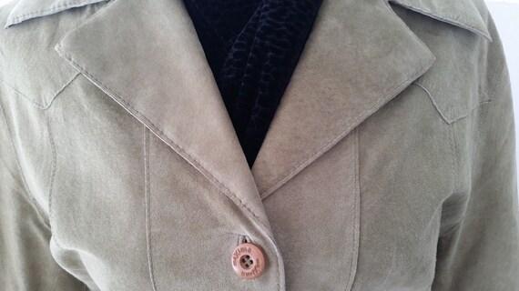 Vintage Wilson Suede Blazer. Soft Green Suede Blazer/Jacket. Wilson Leather Suede Dressy Jacket. Soft Green Suede Blazer/Jacket(SALE SALE)