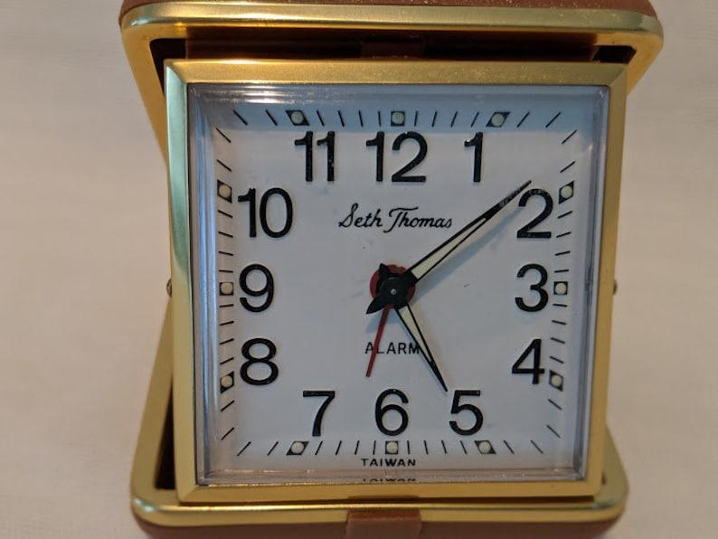 Vintage Seth Thomas Travel Wind Up Clock Travel Alarm Clock Etsy