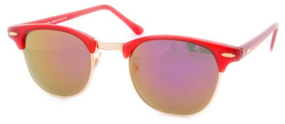Vintage Red Mirrored Club Master Style Sunglass (SALE!!!)