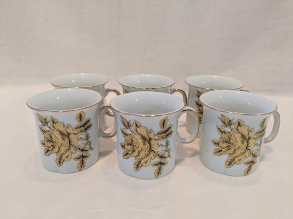 Vintage Empress Haruta Japan Demitasse/Espresso cups. Gold Rose Demitasse cups Empress. Six Espresso Vintage Cups Haruta Japan. NOW ON SALE