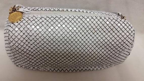 Vintage La Regale White metal Mesh cross body bag