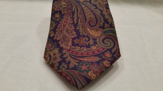 Vintage Coach Men's Necktie. Coach Paisley Necktie. Coach Designer Necktie. Men's Necktie
