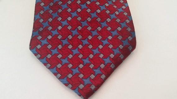Vintage Tommy Hilfiger Neck Tie. Designer Neck Tie. Men's Red Burgundy Tommy Hilfiger Tie.