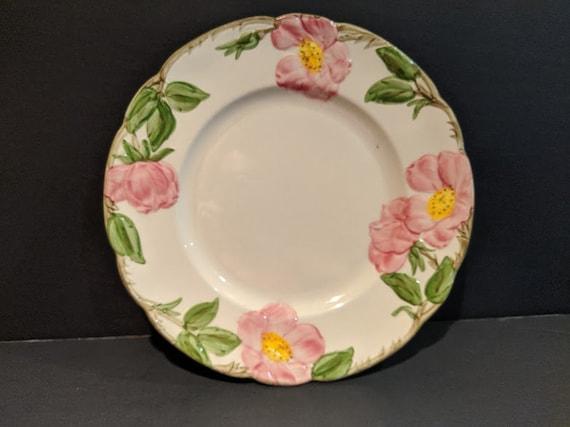 Vintage Franciscan Desert Rose Dinnerware. Pink Desert Rose Hand Painted China. Embossed Rose Pattern. Mid Century Franciscan Dinnerware.