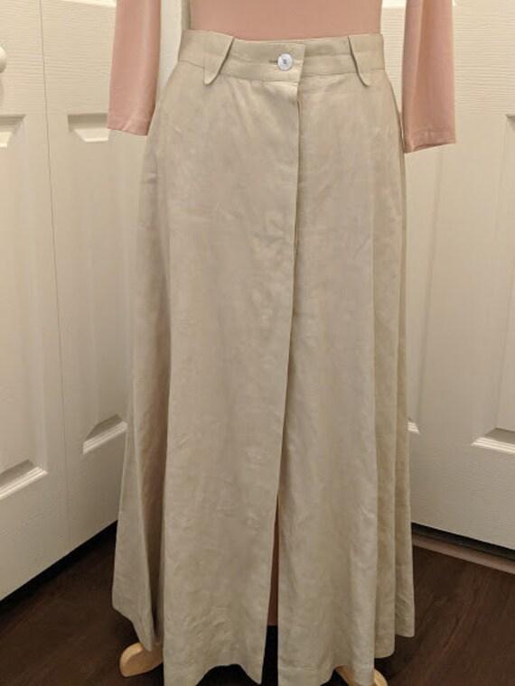 Vintage Escada Beige Linen Long Skirt. Escada Made