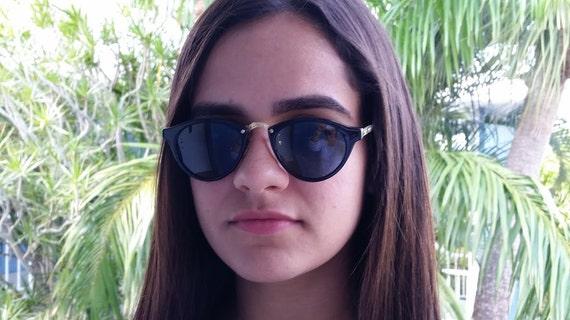 Vintage Zoe Black/Gold Cat Eye Sunglass, Cat's Eye Sunglasse, Cute Cat's Eye Vintage Sunglasses, Cool Vintage Sunglasses