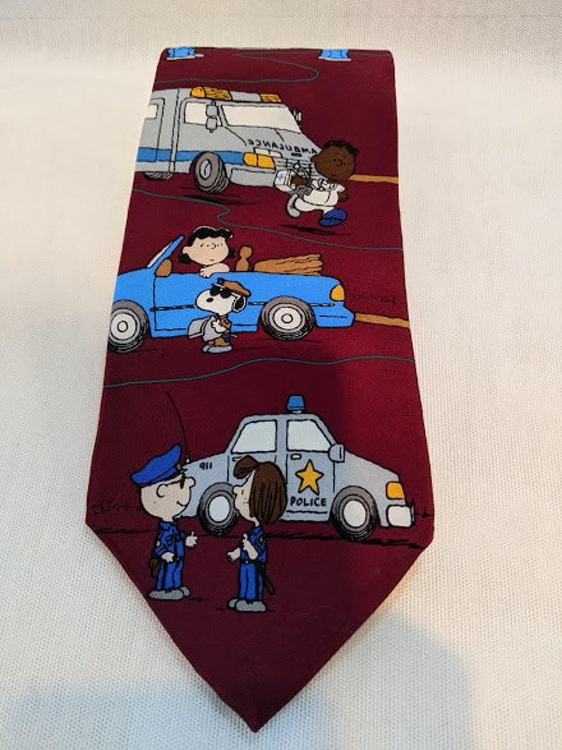 Peanuts All In A Day/'s Work Necktie Vintage Peanuts Novelty Necktie Novelty Necktie