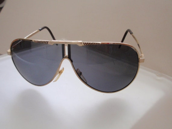 Vintage Carrera Inspired Large Aviator Sunglass