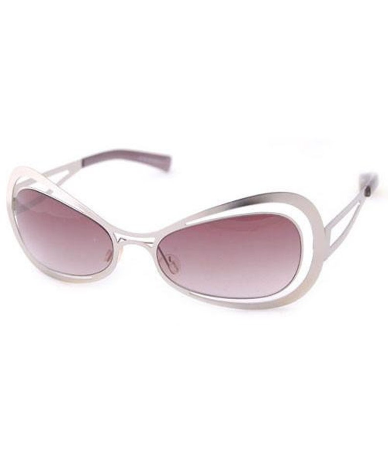Punk Silver Sunglasses SunniesPink Lenses Hippie Funky Vintage Spacy SunglassesSteam Cool 5LAj34R