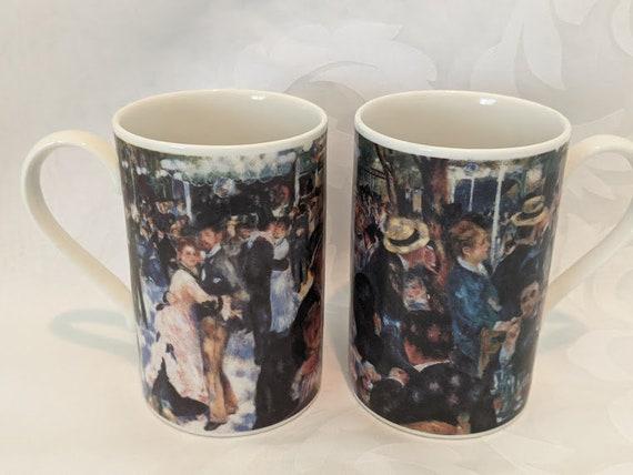 Two Pierre Auguste Renoir Coffee Mugs. Renoir Dance At Moulin De La Gaelette Coffee/Tea Mugs. Two beautiful Renoir Art Mugs