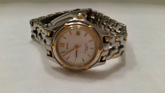 Vintage Women's Seiko Watch. Two Tone Vintage Seiko Women's Wrist Watch. Gold and Silver Tone Seiko Women's Watch. Women's Wrist Watch