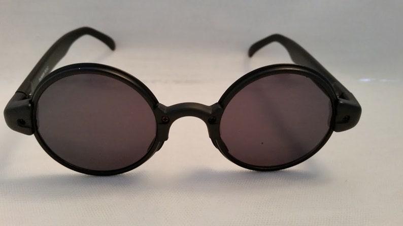 25424352e Combo Circle Retro Sunglasses. Black Plastic/Metal Combo Funky   Etsy