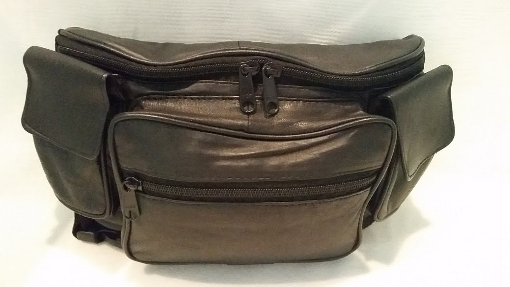 866a4a75418 Vintage Six Compartment Large Fanny Pack. Soft Genuine Leather ...