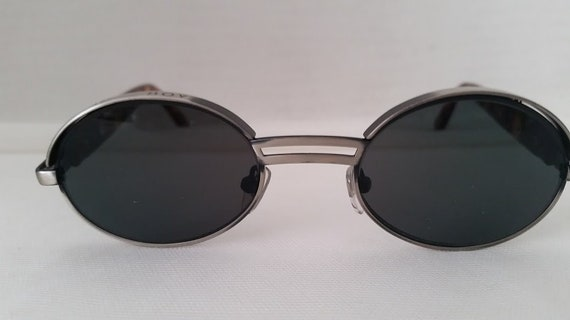 "Vintage Bad Boy Small Oval Sunnies. Bad Boy Green Lenses, Funky & Cute, Oval Bad Boy Sunglasses Cool and Funky. Gunmetal Color frame ""Bad"""
