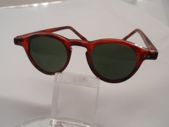 Vintage Small Round Plastic Tortoise Horn Rimmed (NOW on SALE)