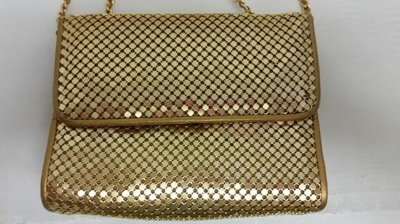 Vintage Gold Mesh Evening Bag.  Gold Mesh Handbag/Cross body, B.H. Smith Evening Bag (SALE SALE SALE)