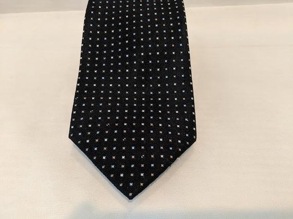 Vintage Nautica Brand Neck Tie. Black Nautica Brand Neck Tie. Men's Nautica Brand Neck Tie.