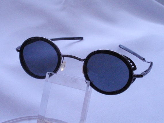 Vintage 1980s Steam Punk Black/gunmetal Sunglass (SALE)