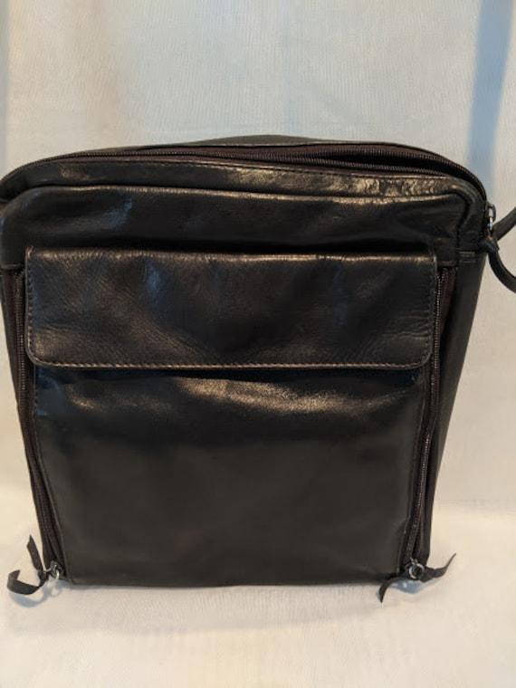 Crossbody Leather Travel Shoulder Bag Vintage Tano Leather Messenger Bag Dark Brown Soft Leather Shoulder Messenger Bag
