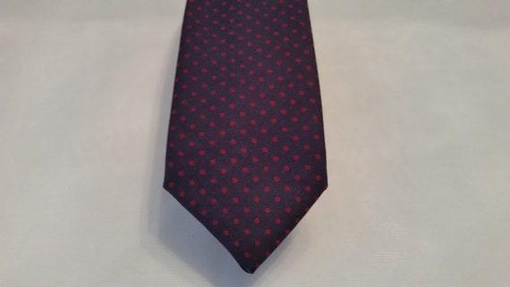Vintage Liberty of London Necktie. Black and Polka Dot Necktie. Liberty of  London All Silk Necktie. Men's Necktie.