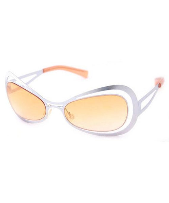 fe41660451 Vintage Spacy Sunglasses. Orange tinted lenses. Silver Vintage