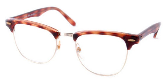 Vintage Small Tortoise CM Style/Clear Lenses...Clear Lenses.  Retro Frames. Tortoise Square Eye Glass Frames.