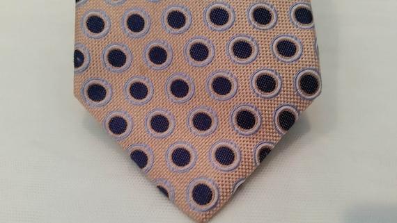 Vintage Nautica Polka Dot Neck Tie. Navy and Coral Polka Dot Nautica Men's Tie. Retro Polka Dot Nautica Neck Tie.