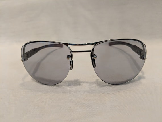 Vintage Aviator Smoke Lenses, Semi-Rimless Aviator with Cool Smoke Lenses. Hippie Style Aviator Sunnies. Retro Aviator Gray/Smoke Lens