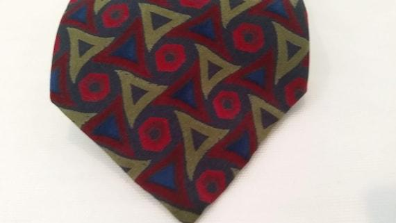 Vintage Mallory & Church Neck Tie. London Men's Neck Tie.  Designer Neck Tie. Retro Neck Tie. Silk Neck tie
