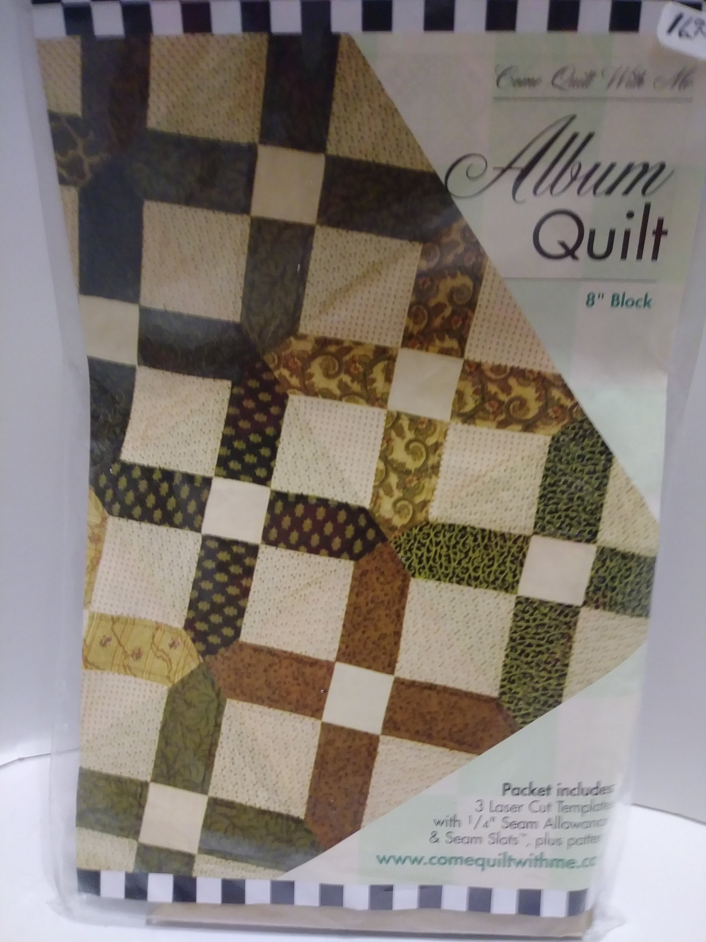 Come Quilt With Me Company- Album Quilt 8 inch blocks  Laser Cut Templates  and Pattern  DIY Album quilt  Goof proof templates