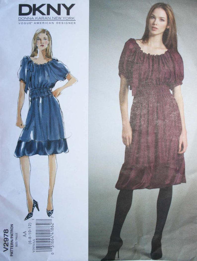 114ea2c092 DKNY Donna Karan BOHO Dress Vogue Pattern V2978. Size 6-12.