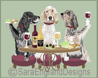 Dogs WINEing - English Setter