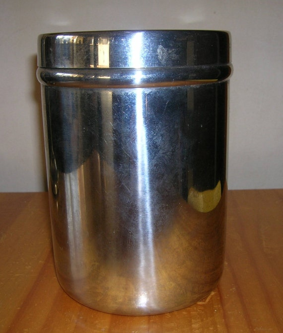 Vintage Vollrath Canister Medical Gauze Container Stainless
