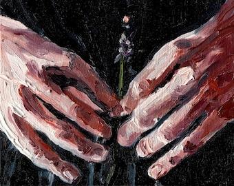 Lavender - Giclee Art Print, Floral Wall Art, Hand Study, Wall Art