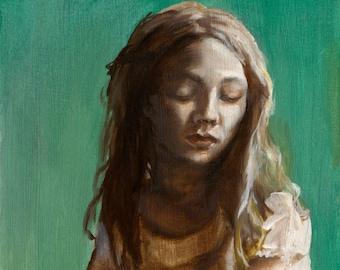 Sullen - Figure Painting, Fine Art Print, Large Wall Art, Portrait Painting